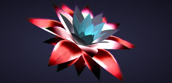 Крутой эффект №2: Живой 3D аленький цветочек