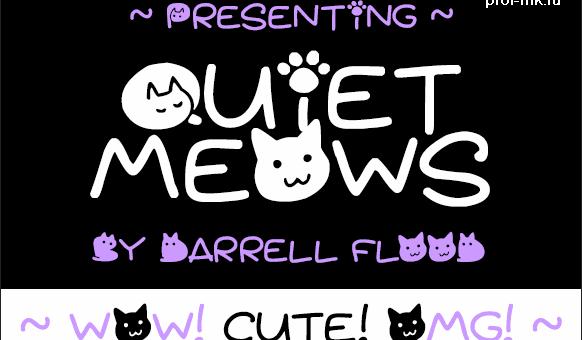 Оригинальный шрифт для любителей кошек